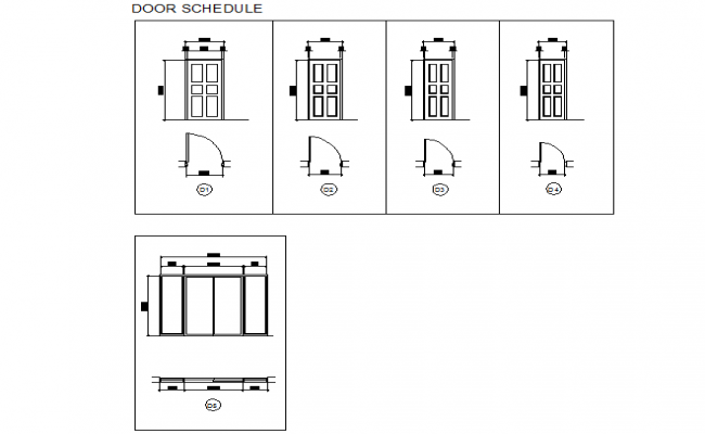 Door Schedule Plan And Elevation Plan Dwg File Elevation Plan How To Plan Elevation