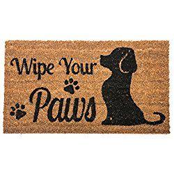 Wipe Your Paws Dog Welcome Coir Door Mat Door Mats Doors Dogs