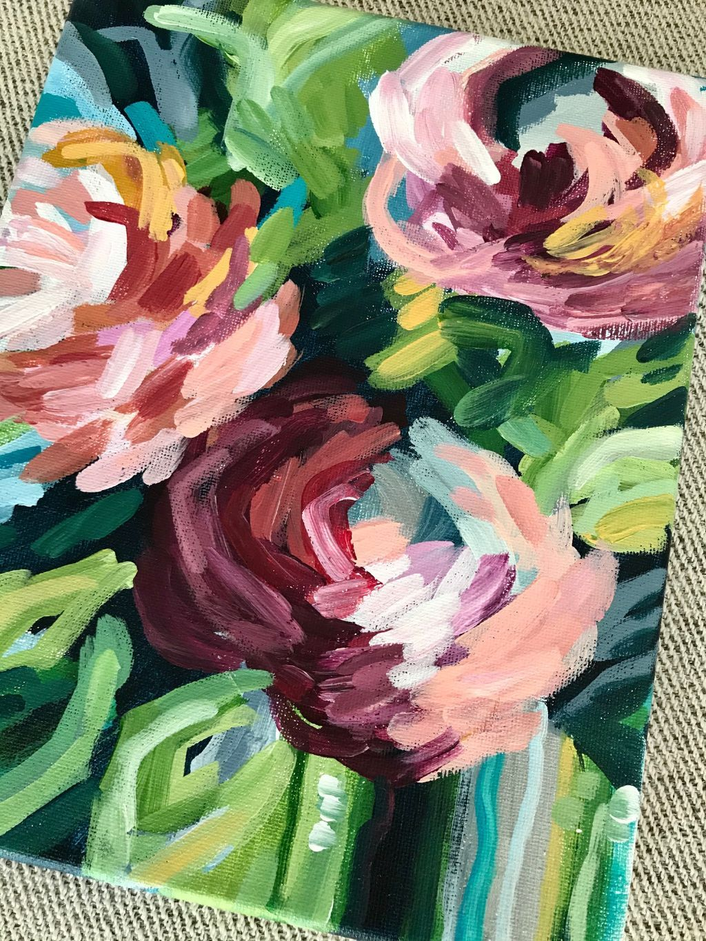 How to Paint Modern Abstract Flowers:  Acrylic Painting for Beginners — Elle Byers Art