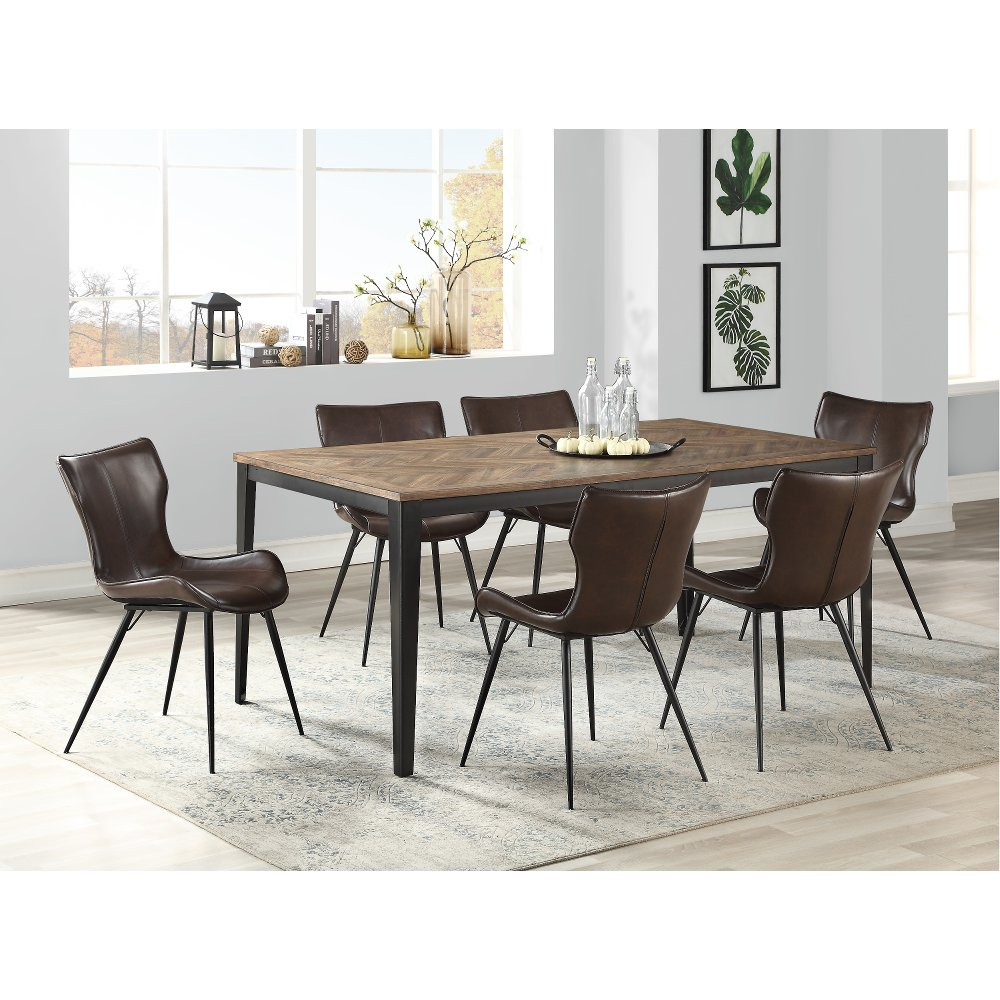 Brown 5 Piece Dining Set With Mitt Style Chair Maxwell Dining Room Table Chairs 5 Piece Dining Set Dining Set