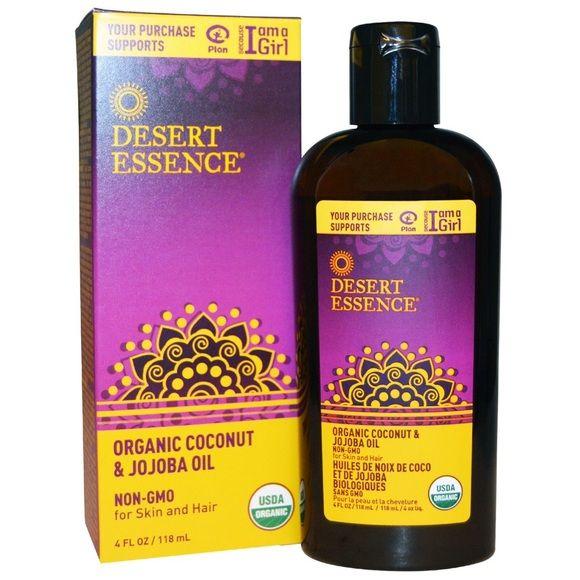 Desert Essence Organic Coconut Oil & Jojoba Oil For skin and hair. USDA Organic. Brand new. Still in box. Never used before! Makeup