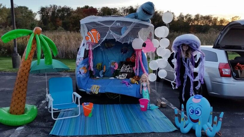 Trunk or treat under the sea theme #trunkortreatideasforcarsforchurch