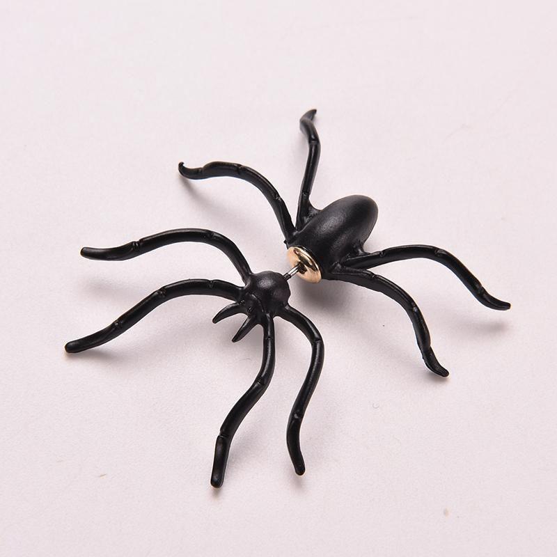 2017 neue koreanische spinne schwarz ohrstecker vintage mädchen punk special design niedlichen tier ohrringe für frauen schmuck geschenk e1854