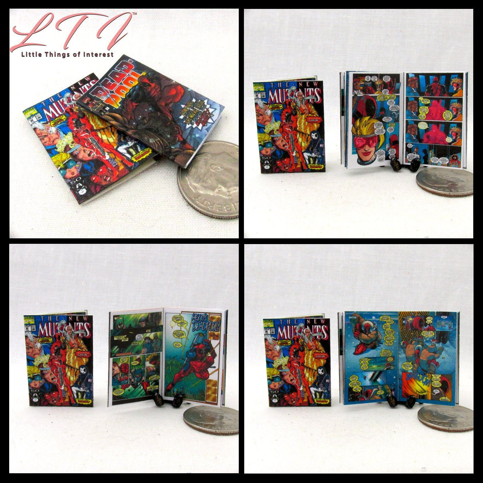Dollshouse 1:12 scale 4 Miniature OPENING  /'AVENGERS/'   Comics