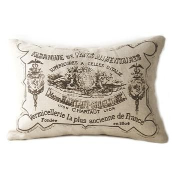 French Country Down Blend Pillow with Illustrations  #kathykuohome#frenchcountryroom