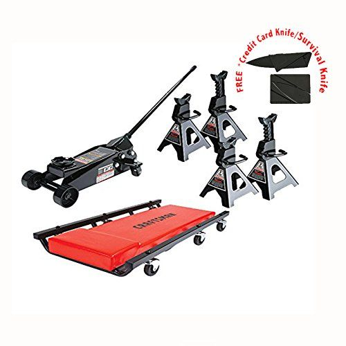 3 Ton Floor Jack Set Combo With 6 Ton Combined Jack Stands And Mechanic Creeper Lifted Cars Creepers Best Riding Lawn Mower