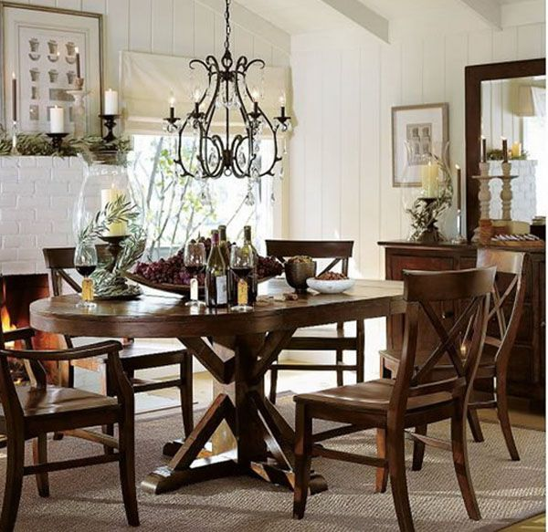 modern with a more traditional look and other dining room design ideas - Country Dining Room Design