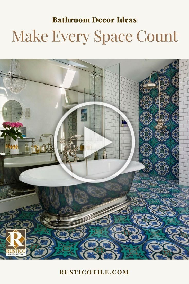Photo of Plan your dream bathroom through use of decorative cement tile and a mix of meta …