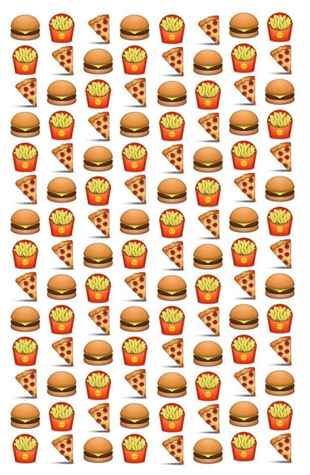 Background Emoji Food Fries Favim Com 2503414 Jpg 610 934 Hamburguesas Papas Fritas Comida