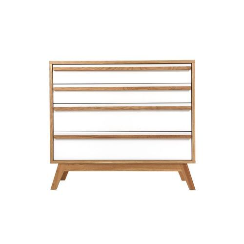 Commode 4 tiroirs design scandinave Helia - Blanc