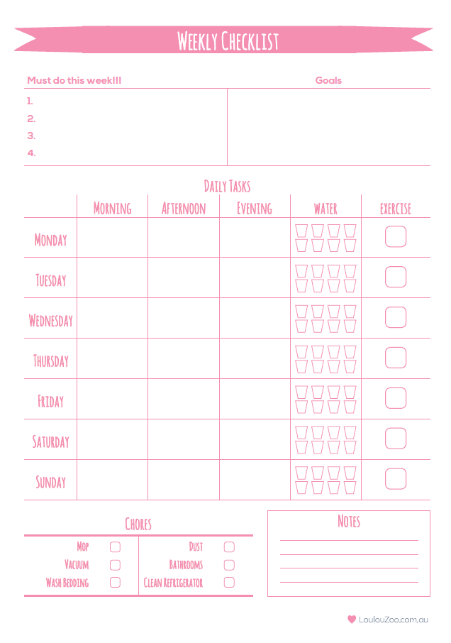 Printable Weekly Planner To Do List | Pinterest | Planificadores ...