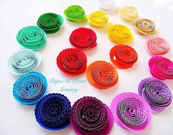 Paper Rolled Rosette Templates- DIY paper flowers- Printable PDF ...