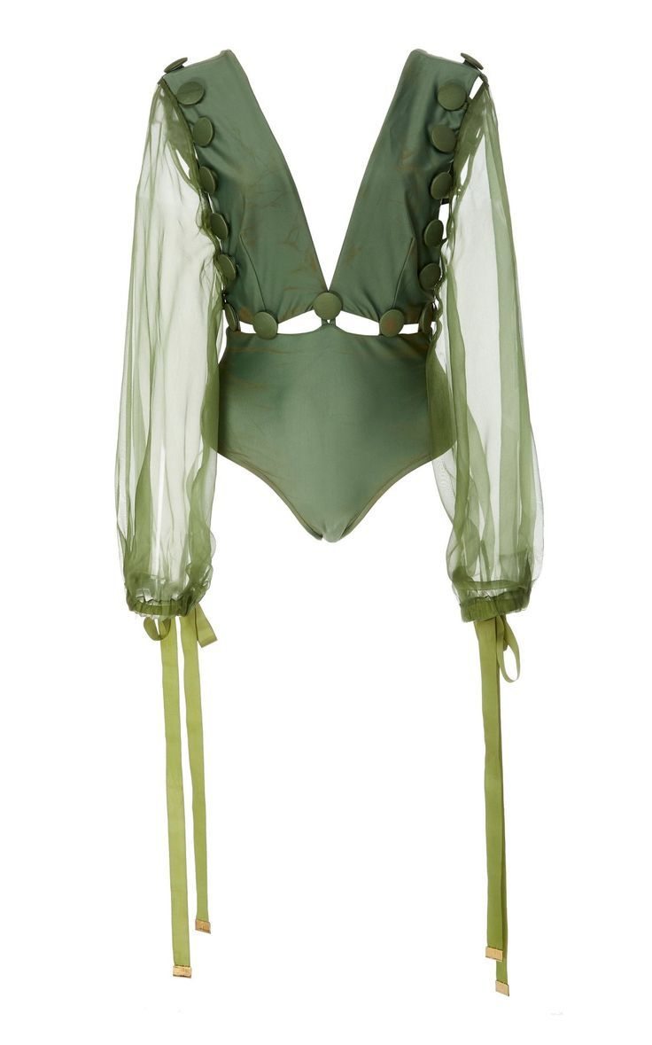 Long Sleeved One Piece Swimsuit by Agua de Coco SS19