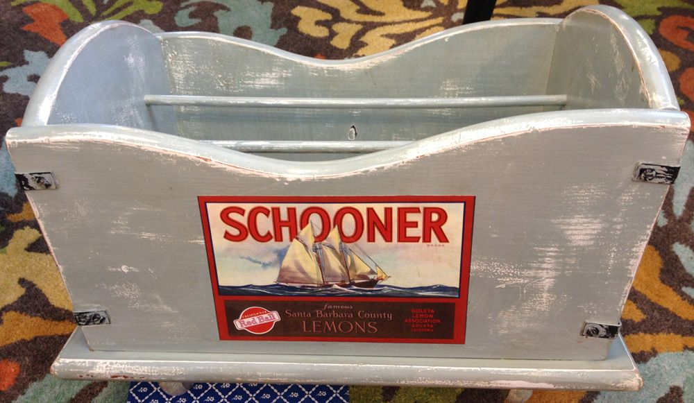 """SCHOONER"" MAGAZINE RACK Does your guy need something to ..."