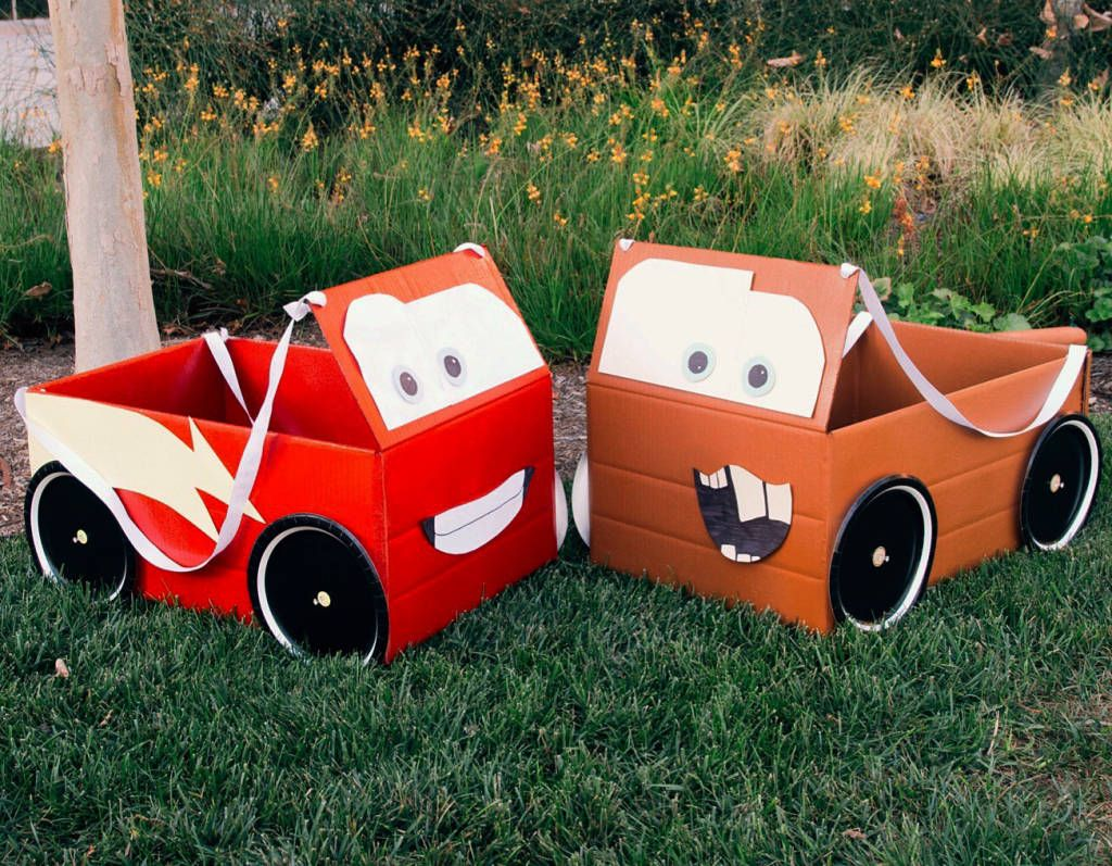 McQueen & Mater Box Car Costumes | Car costume, Engine and Costumes