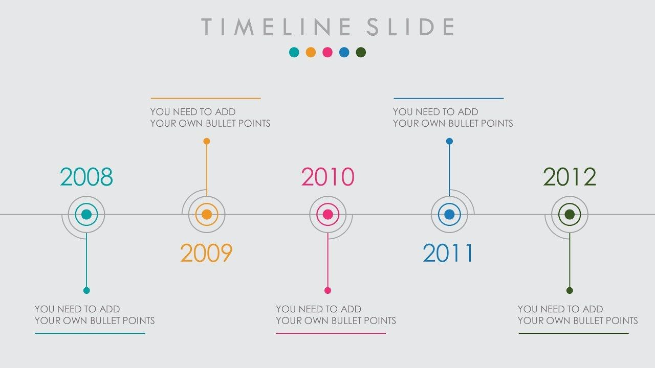 animated powerpoint timeline slide design tutorial techskills i