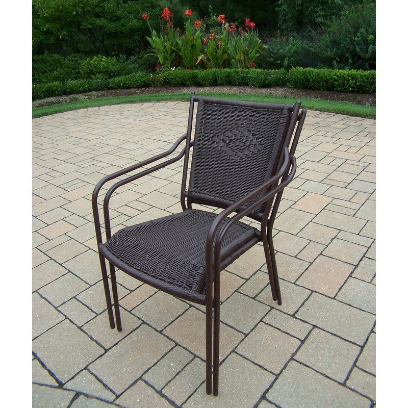 Stacking Patio Dining Chair Oakland Living Wicker Dining Chairs Outdoor Dining Chairs