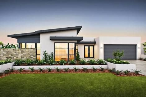 Contemporary single story house facades australia google Single story modern house designs