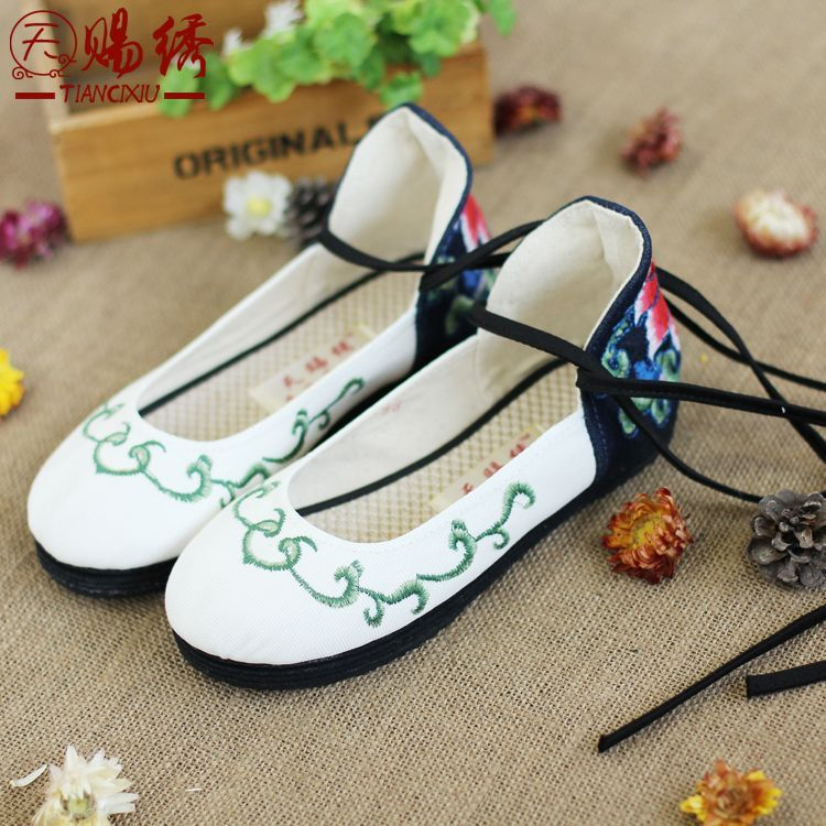 The new quality goods leisure shoes with flat embroidered cloth shoes nurse shoes pregnant young women's shoes