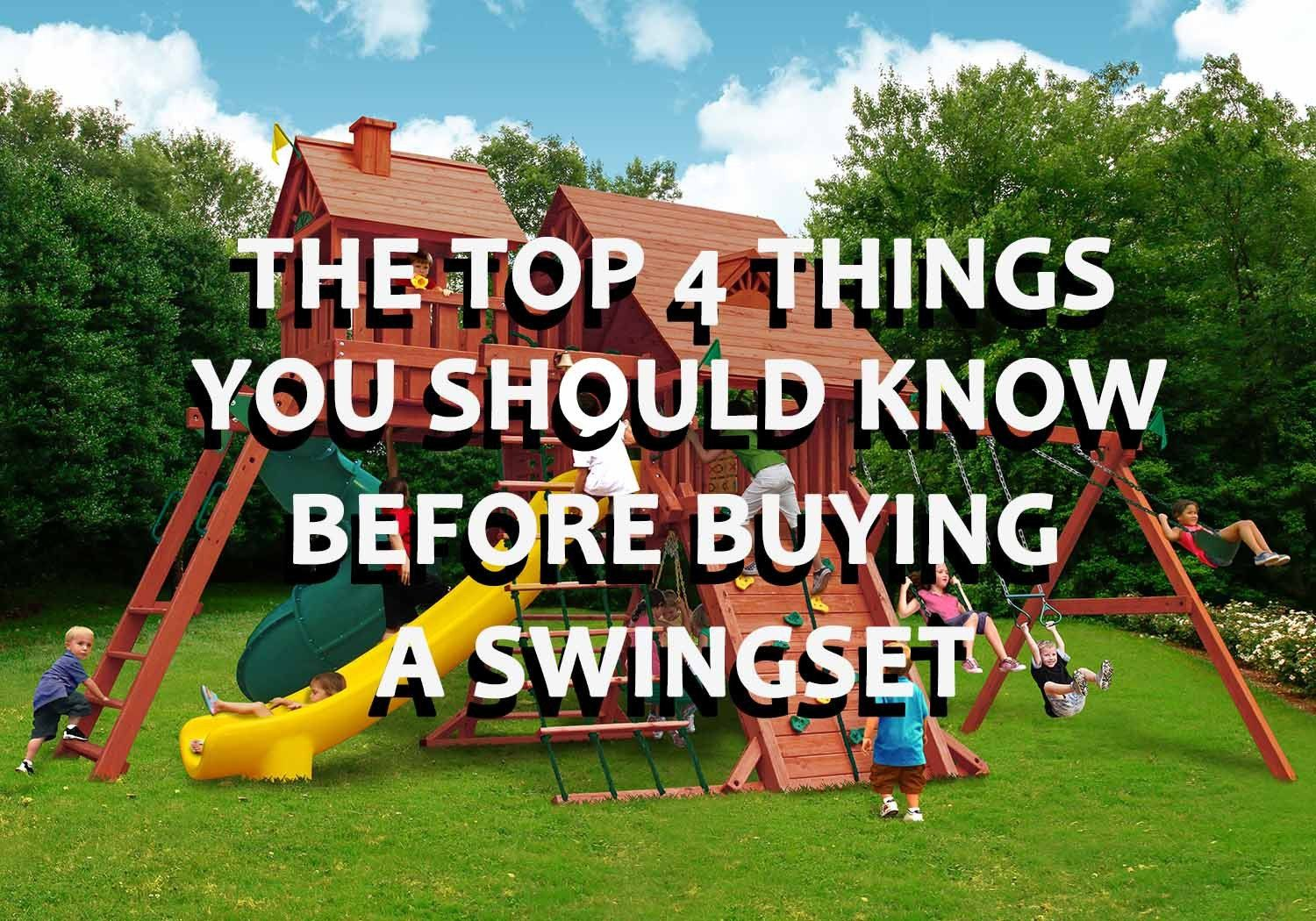 The top things you should know about a swing set before buying one