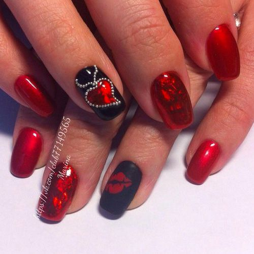 47 Of The Best Valentine S Day Nails For 2020 In 2020 Valentine Nail Art Heart Nails