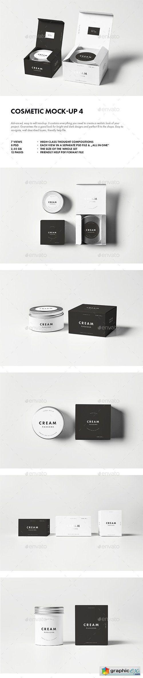 4725+ Mockup Box Cosmetic Branding Mockups File