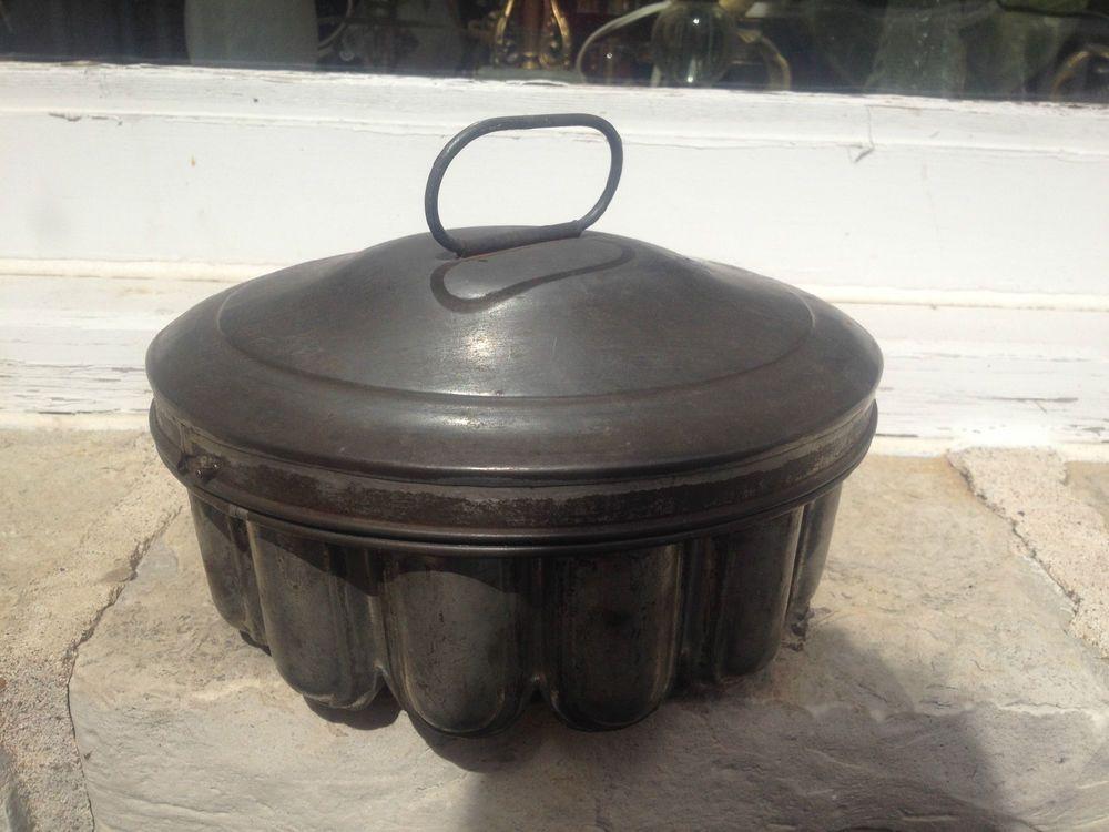 Antique Tin Mold With Lid Downton Era Primitive