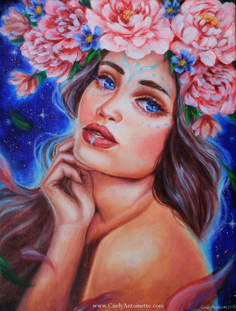 Original Character Painting Lhesia Acress Copyrighted Finally She S Done My Original Character For Another Personal Proj Artist Fantasy Paintings Painting
