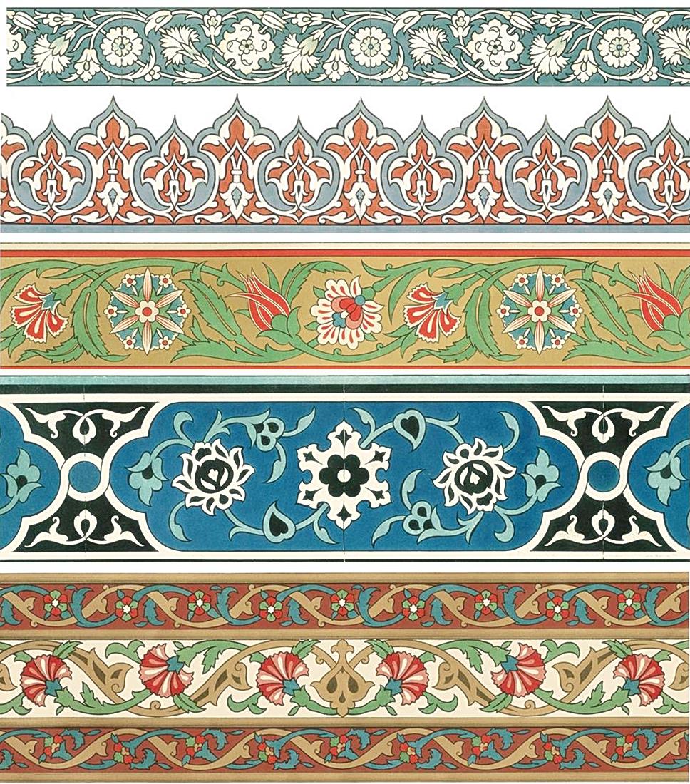 Картинки орнаментов и узоров в полосе