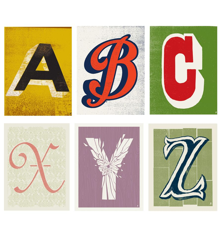 Individual Alphabet Letter Prints Lettering Pinterest Alphabet