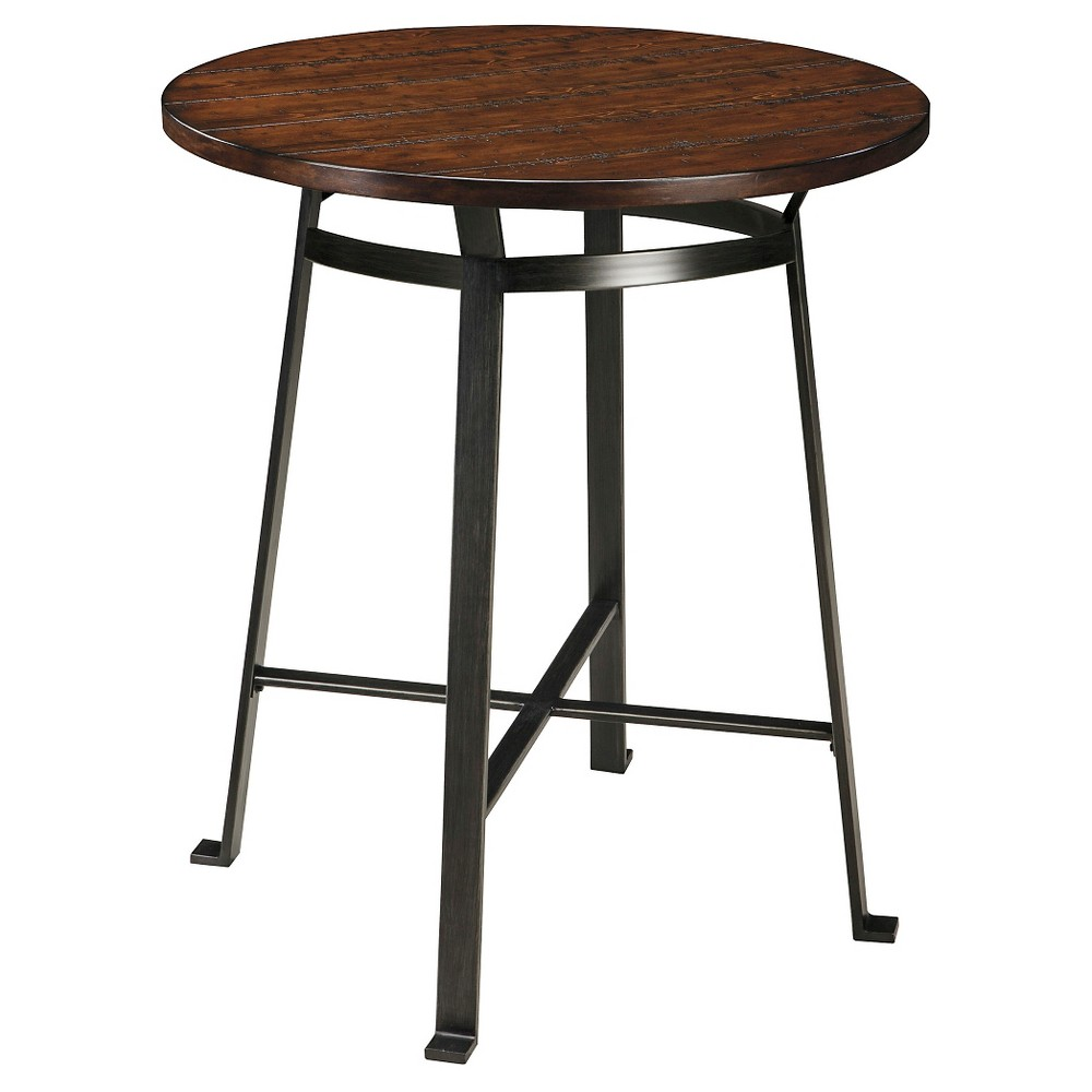Challiman Round Dining Room Counter Table Wood/Rustic Brown - Signature Design by Ashley