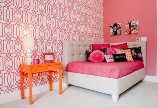 La chambre pour fille - glamour et moderne Meubles et déco