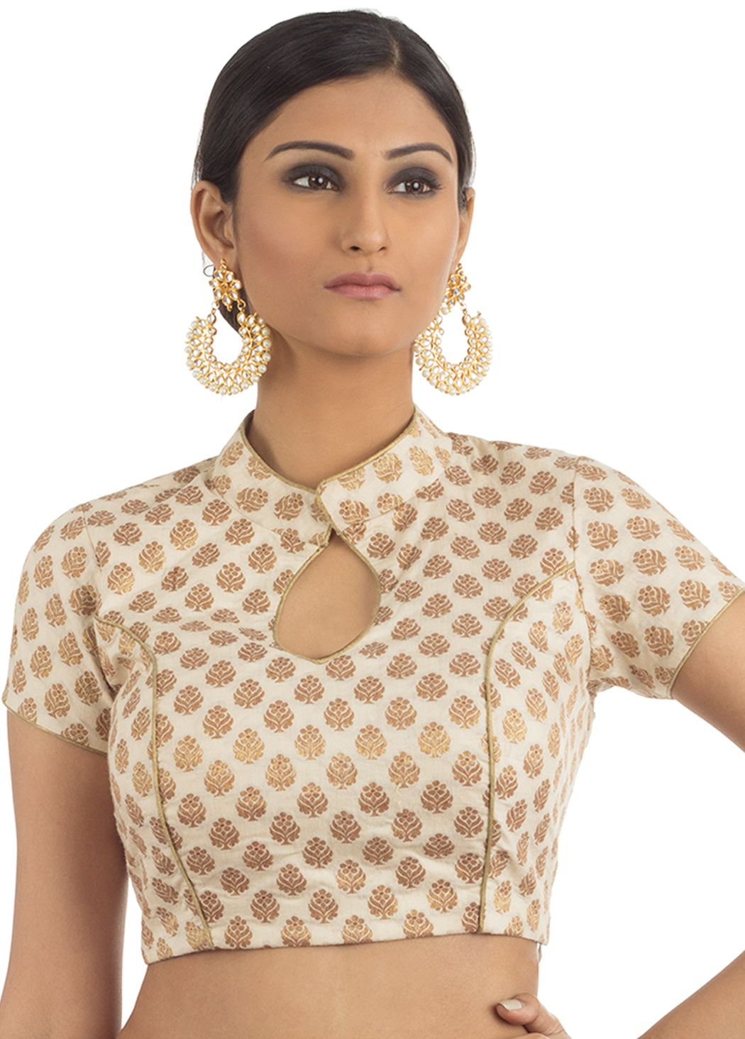 Khaddi brocade designer blouse bl indian silk house agencies also rh co pinterest