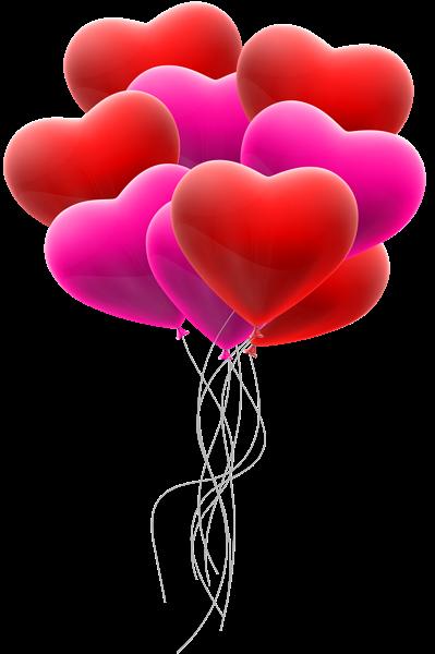 Hearts Balloon Bunch Transparent Clip Art Love Png Balloons Heart Balloons