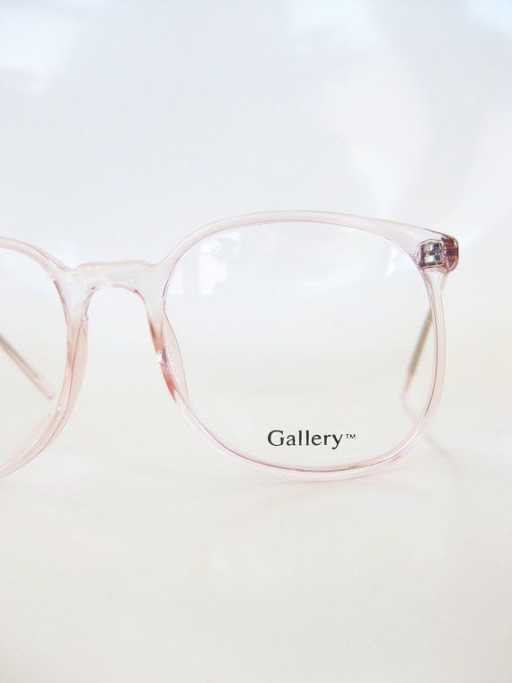 Vintage Pink Eyeglasses Clear Cotton Candy 1980s Round P3 Eyeglass ...