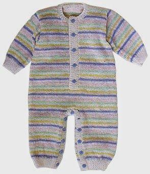 iKnitts: Patron para tejer un pijama de bebe free pattern