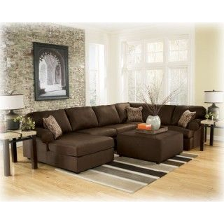 Living Room Sectional Nice We Also Have To The Back Pillows Attached