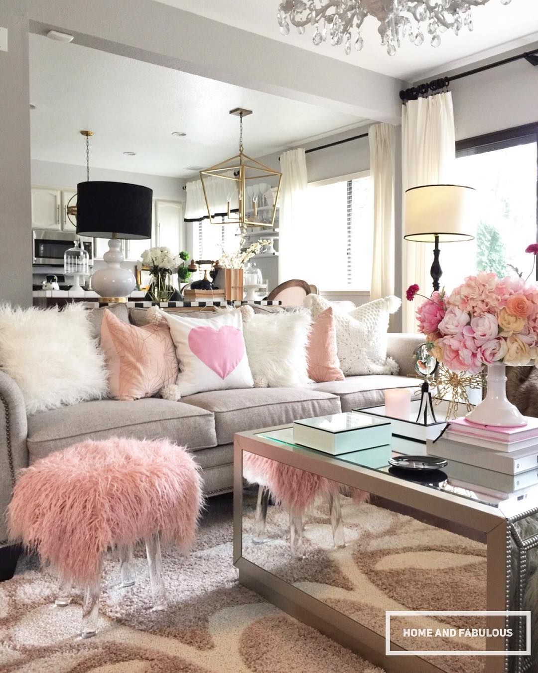 See This Instagram Photo By Homeandfabulous 2 304 Likes Living Room Grey Living Room Decor Glam Living Room #small #glam #living #room