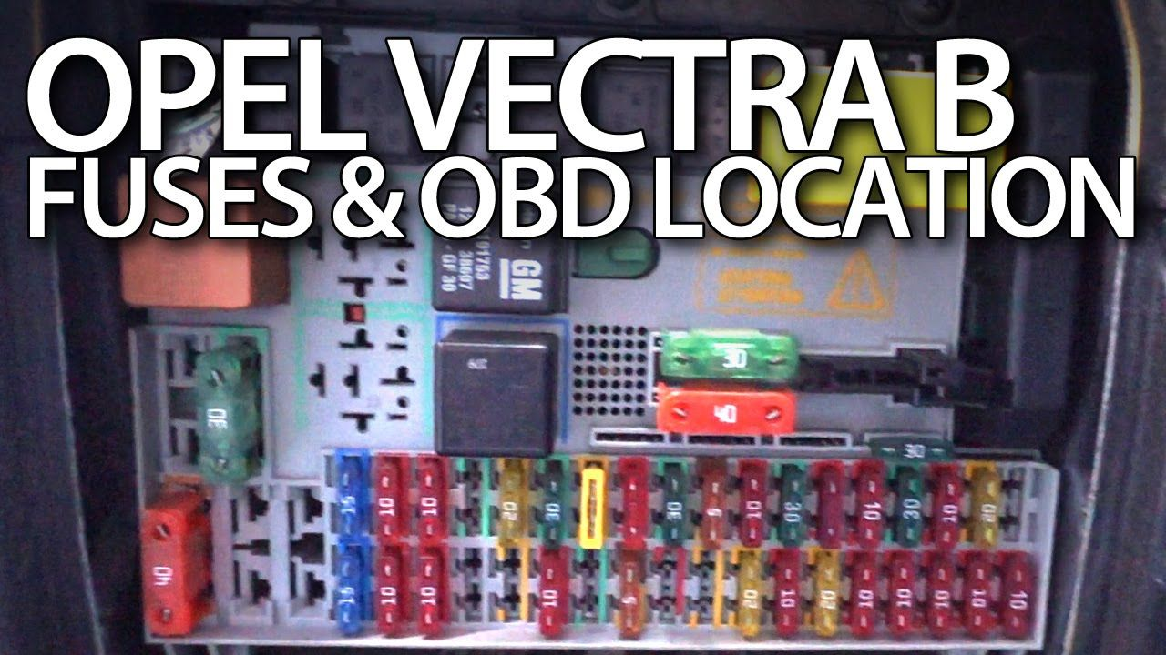 where are fuses and obd port in opel vectra b. Black Bedroom Furniture Sets. Home Design Ideas