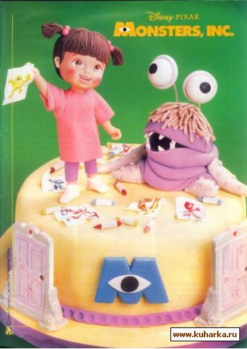Master classes cake decorating: Monster, Inc cake via ...