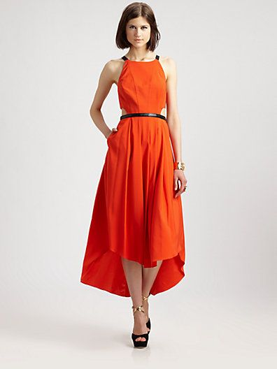 orange maxi with hi-low hem from Fashion Star