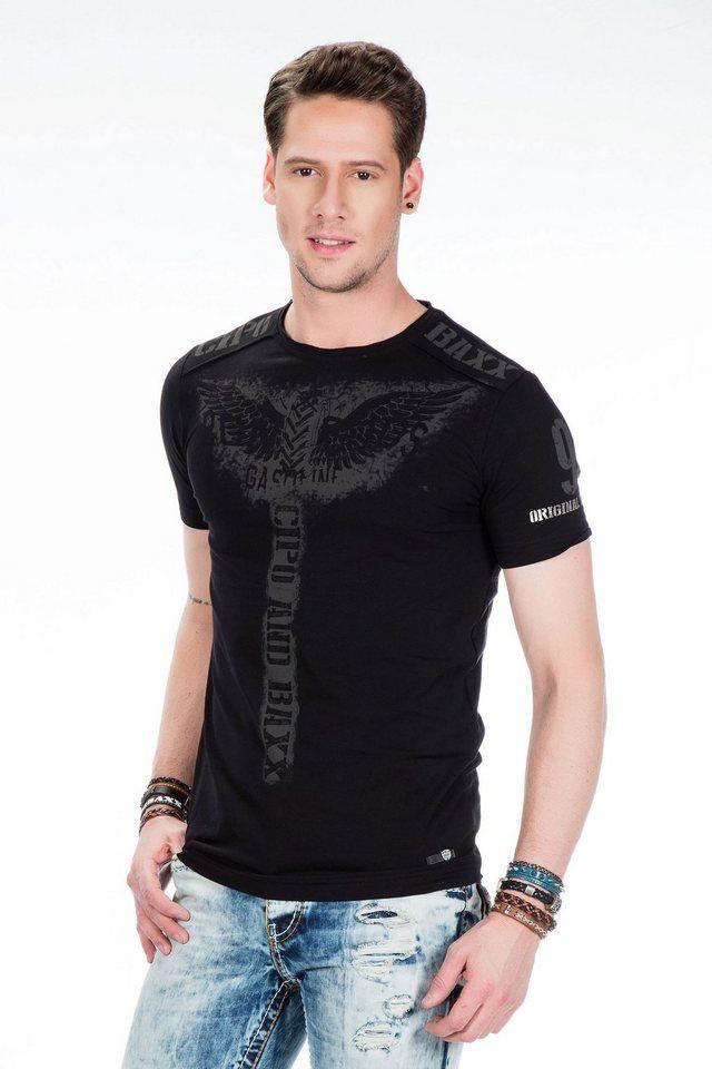 brand new dd851 ceee8 Cipo & Baxx Herren T-Shirt mit Front-Print | Fashion_Sept_01 ...