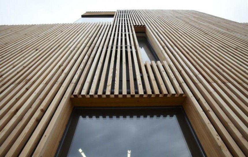 Billedresultat For Bardage Vertical Faux Ajoure Architecture Facade Bois Bardage Maison
