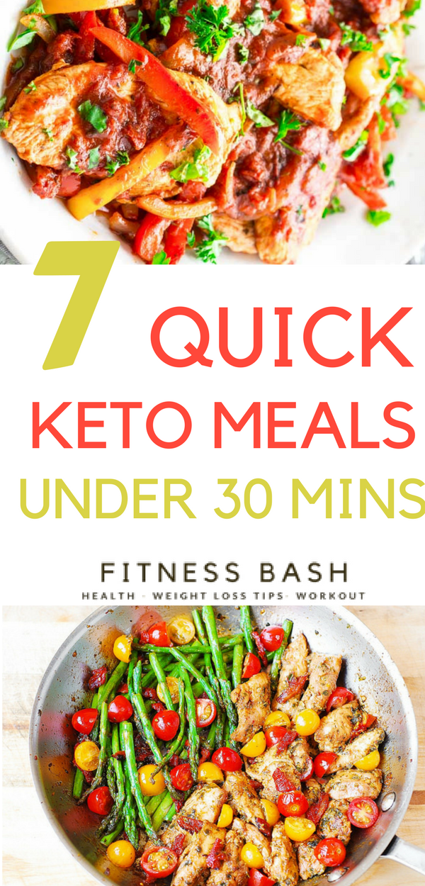 7 Quick Keto Meals To Be Prepared Under 30 Minutes Keto Recipes