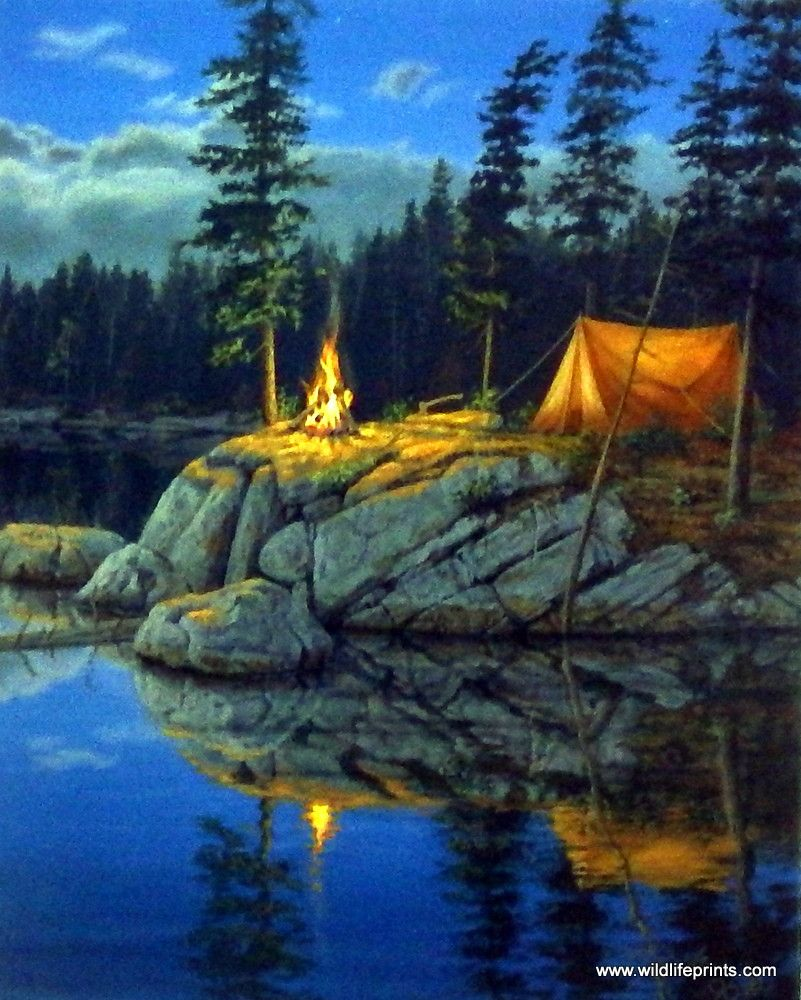 """Mark Daehlin Moonlight Retreat Signed and Numbered Art Print 29/"""" x 19/"""""""