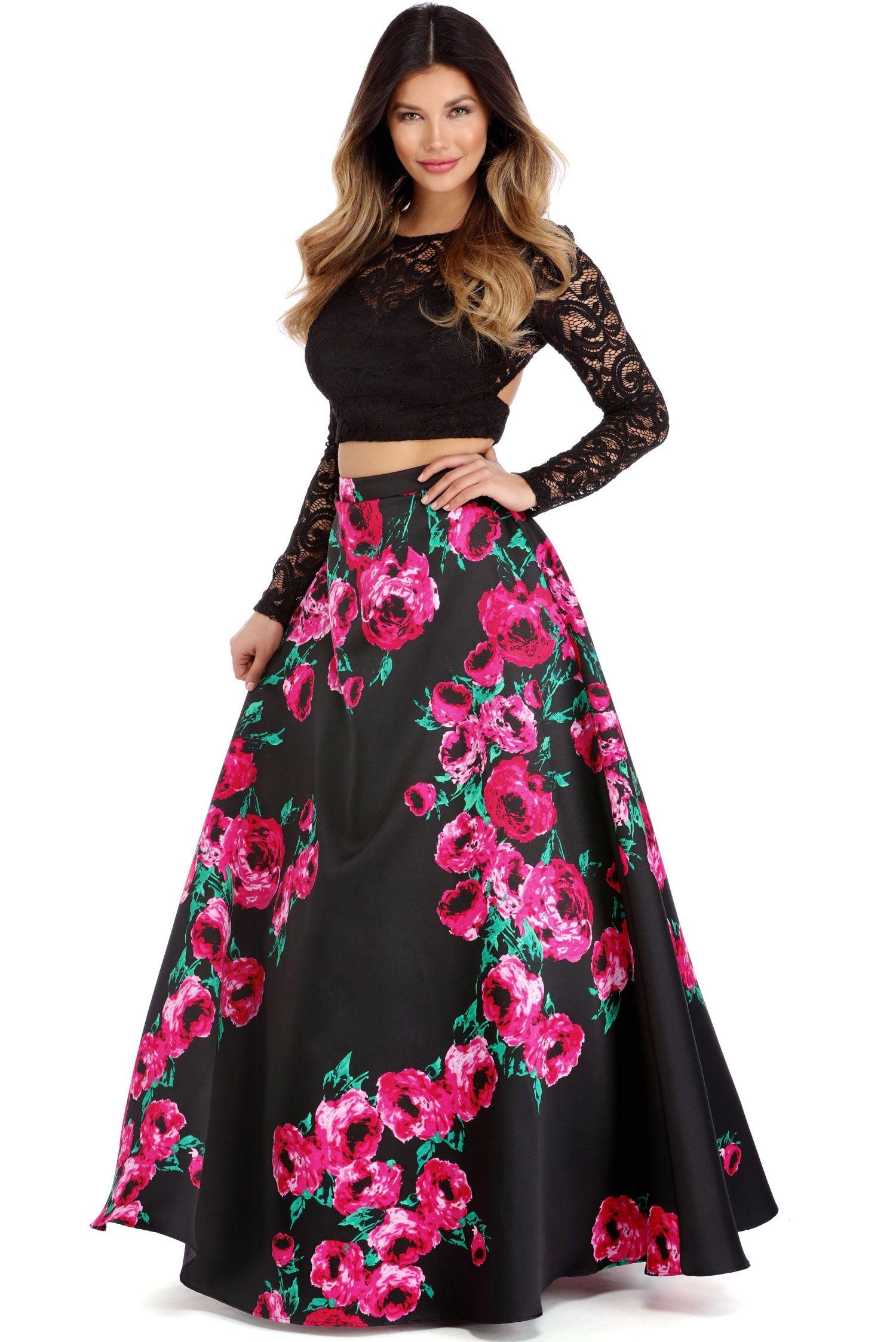 fd48b52f5497 Samara Black Two Piece Dress | Windsor | Prom dresses, Two piece ...