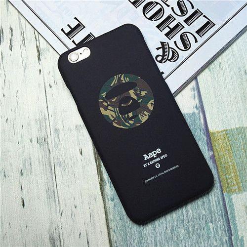 Modisch AAPE Vormensch Camouflage Mattglasbirne hard schutz case für Apple6/6s/6plus/7/7plus