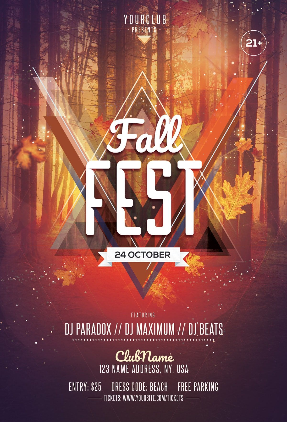 Fall Fest Download Free Autumn Psd Flyer Template Free Psd
