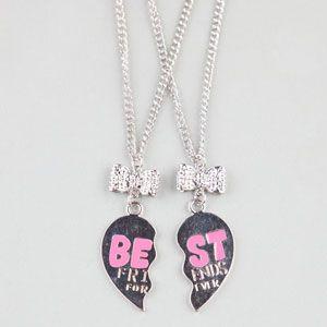 2 Piece Best Friends Forever Necklaces Bestfriends Neckleaces