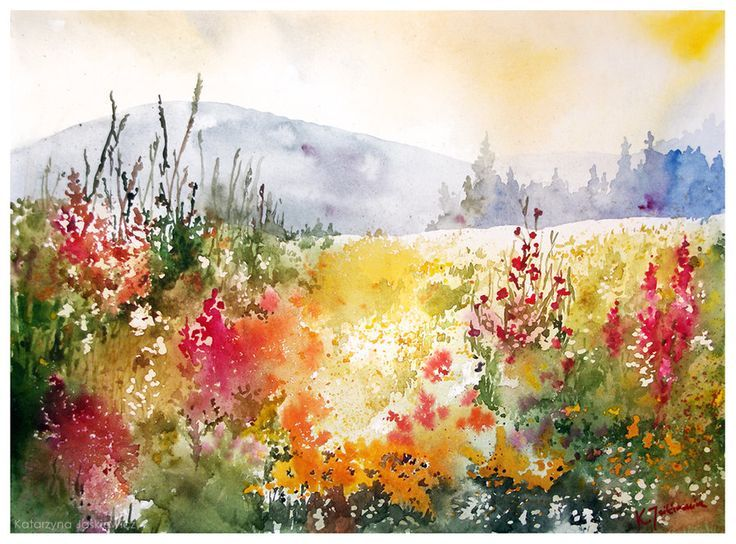 Image Result For Watercolor Painting Ideas Landscape Watercolor